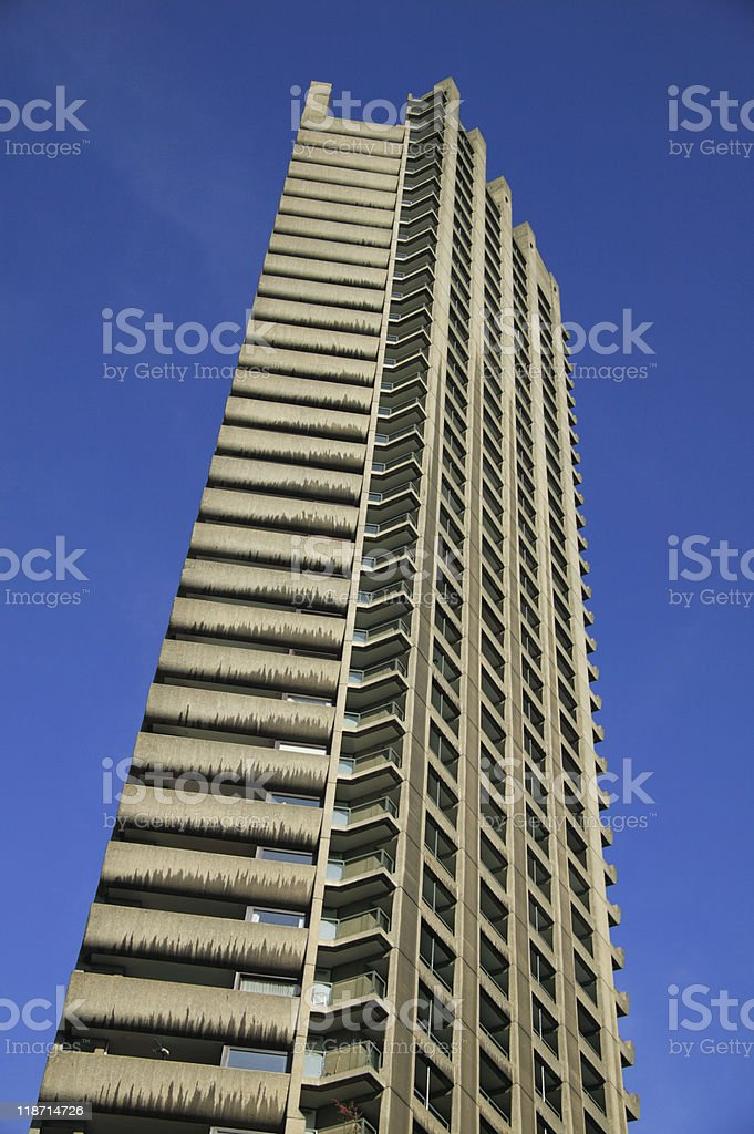 Shakespeare Tower At The Barbican Estate royalty-free stock photo