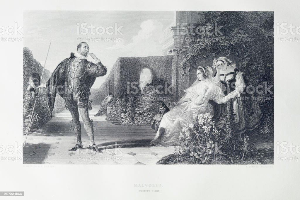 Shakespeare - Twelfth Night stock photo