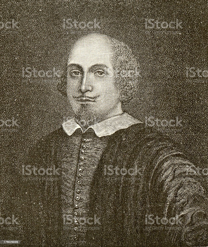 Shakespeare Victorian Engrave royalty-free stock photo