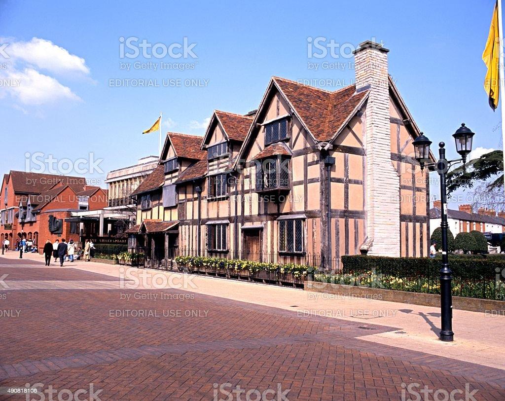 Shakespeares birthplace, Stratford-upon-Avon. stock photo
