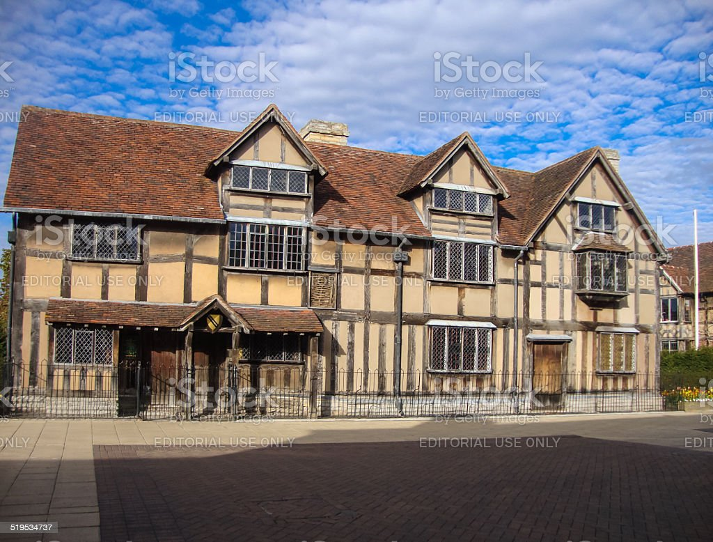 Shakespeare's birthplace, Stratford-upon-Avon stock photo