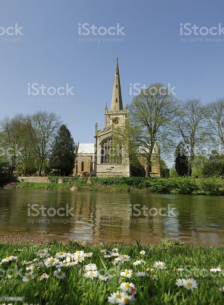 Shakespeare's Burial Place, Stratford royalty-free stock photo