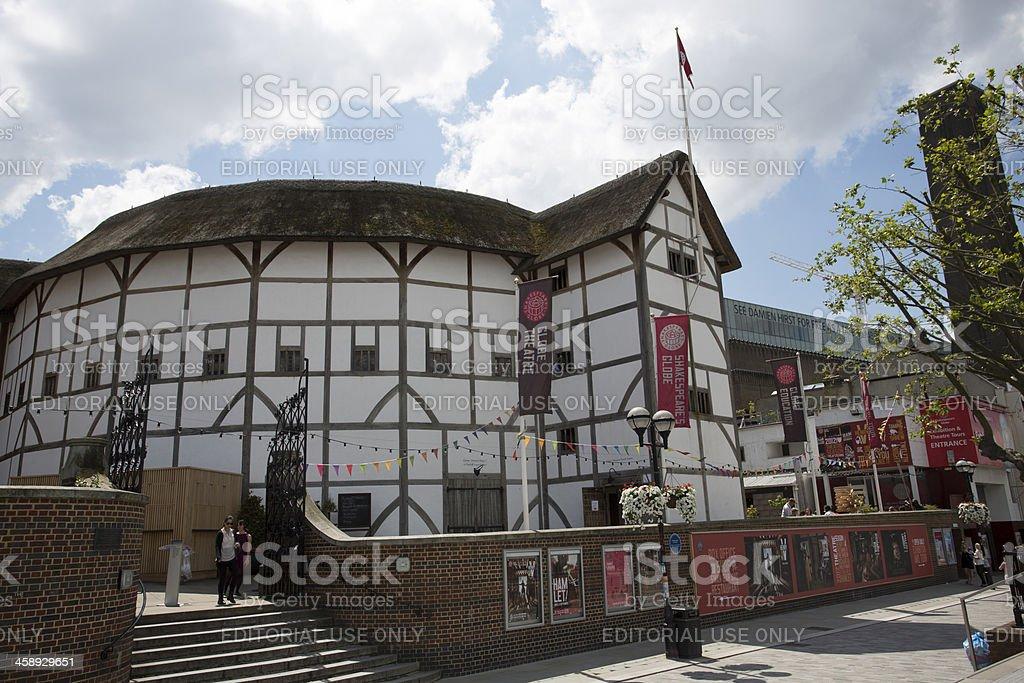 Shakespeares Globe theatre in London royalty-free stock photo