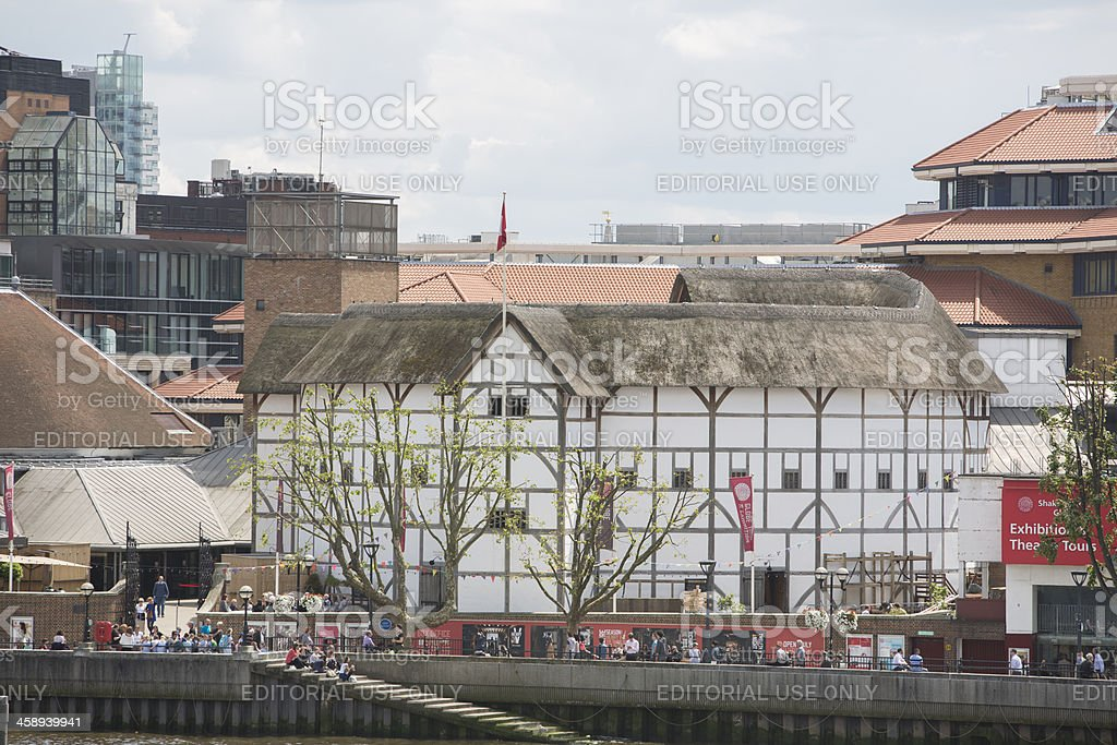 Shakespeares Globe theatre in London royalty-free stock photo
