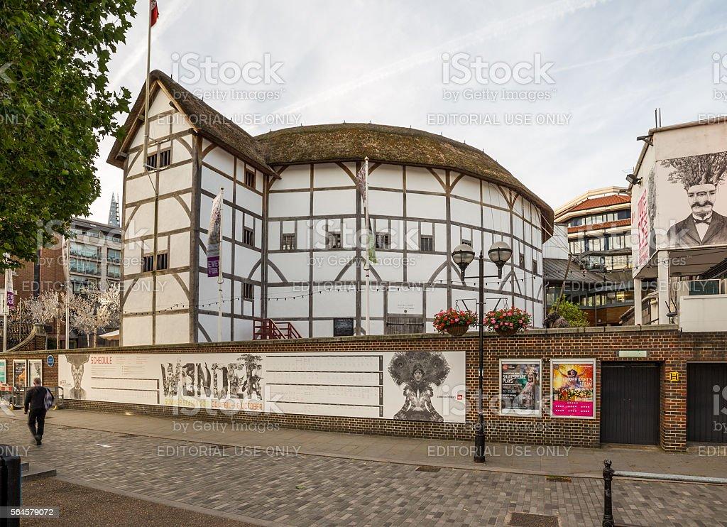 Shakespeares Globe Theatre in London stock photo