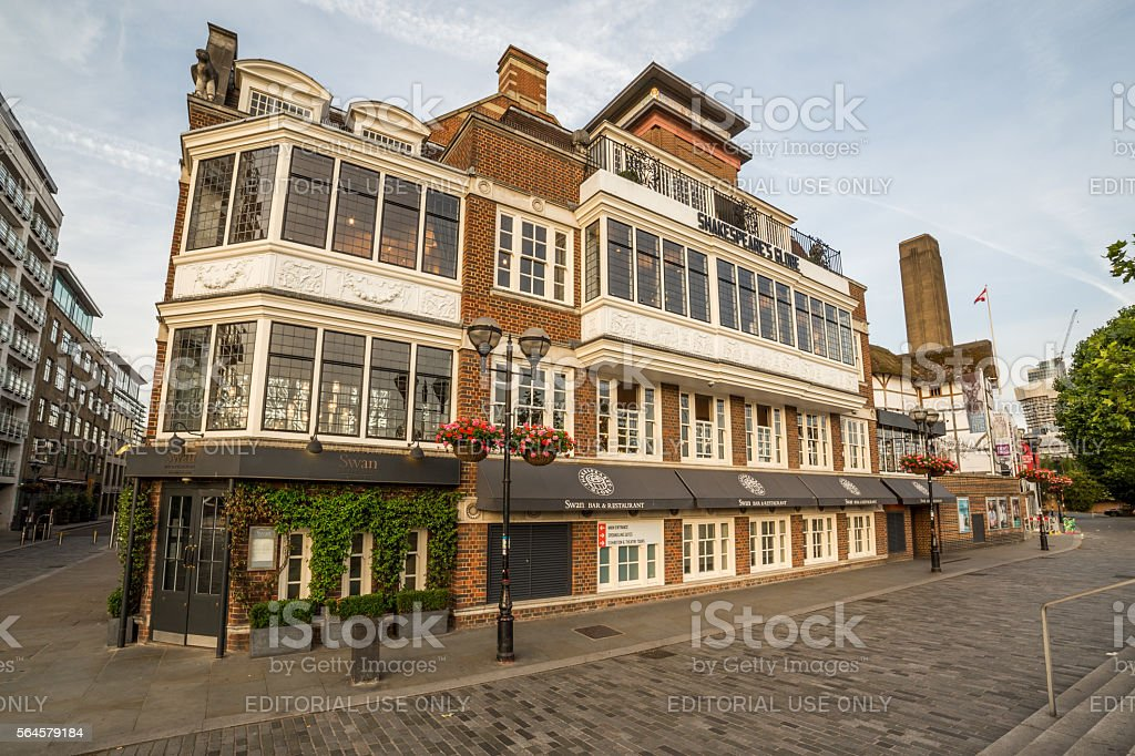 Shakespeares Globe Theatre in London stock photo