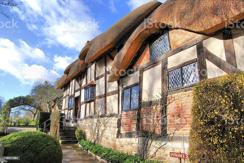Shakespeare's Houses & Gardens in a sunshine morning stock photo
