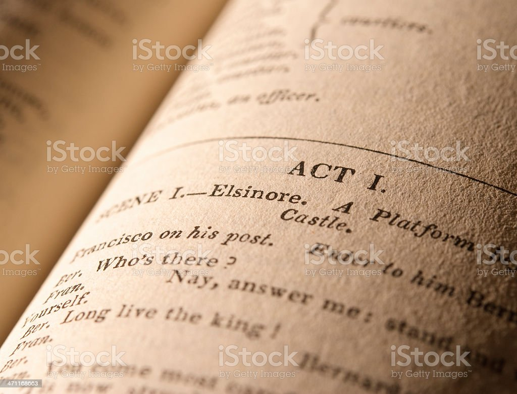 Shakespeare's Plays - Hamlet stock photo