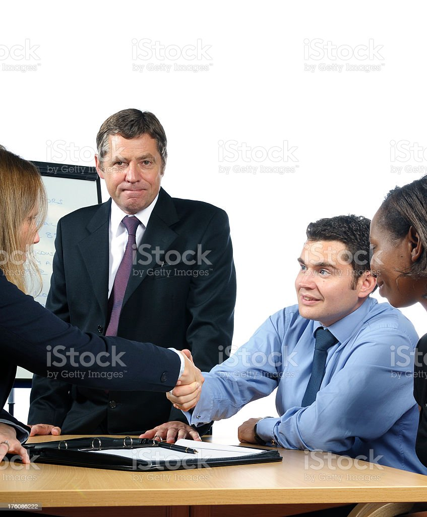 Shaking Hands After a Meeting stock photo