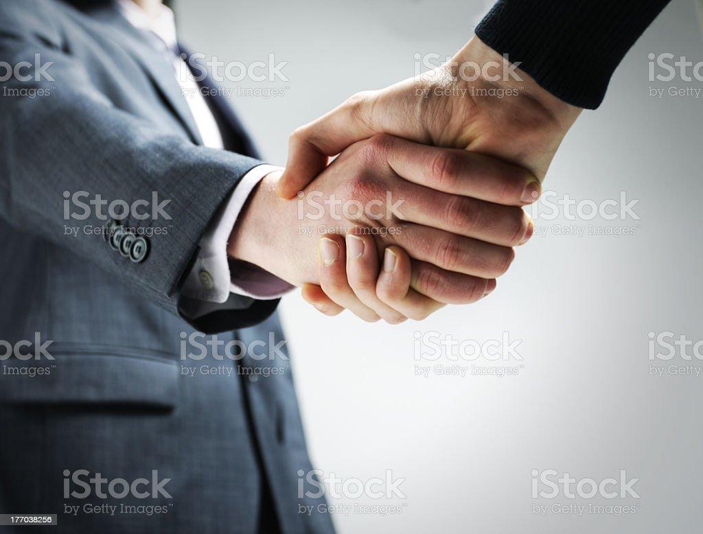 Secouer la main photo libre de droits