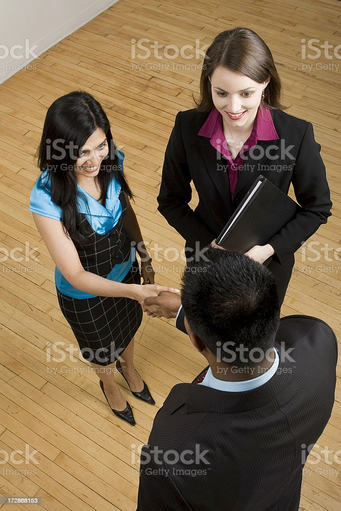 Shaking Hands With the Boss royalty-free stock photo