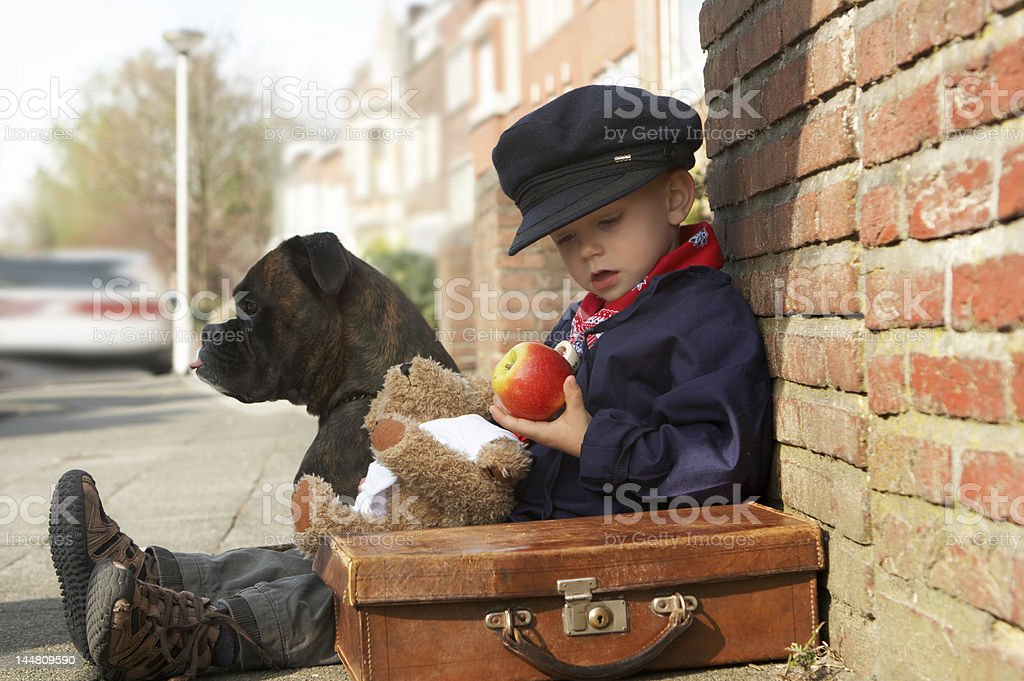 Shall I have the apple now? royalty-free stock photo