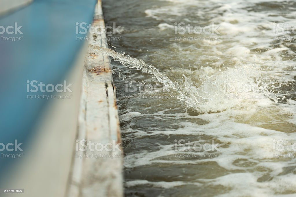 Shallow DOF of bilge pumped out stock photo
