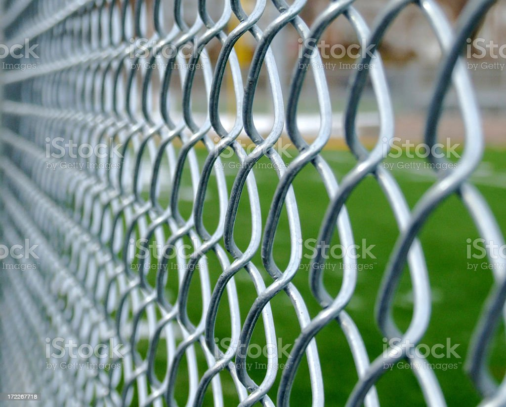 Shallow Link Fence stock photo