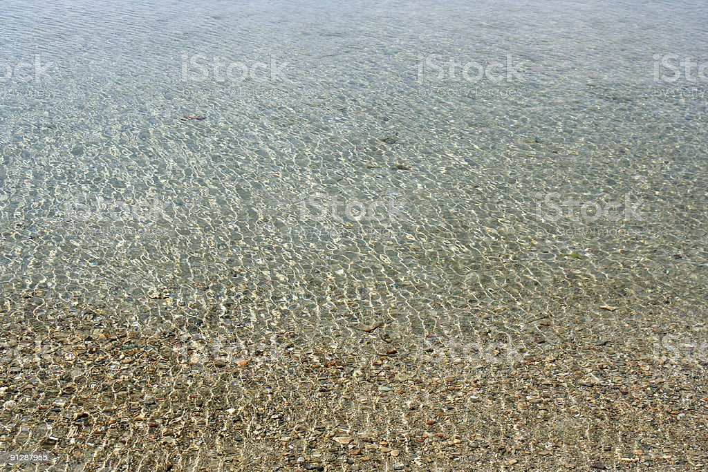 Shallow Sea Background stock photo