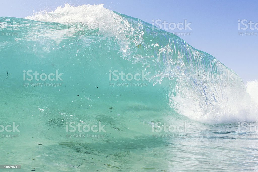 shallow shorebreak stock photo