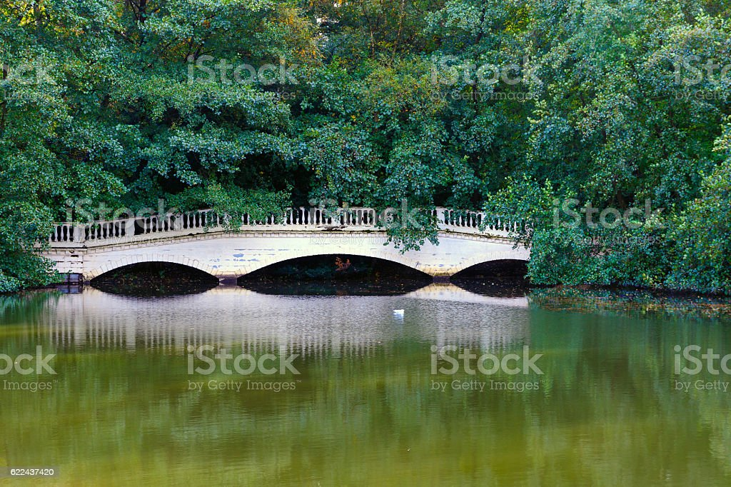 Sham Bridge at Thousand Pound Pond stock photo