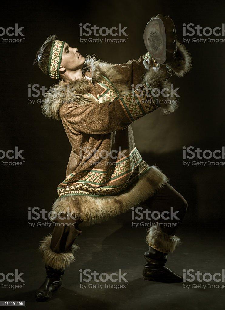 Shaman Dancer stock photo