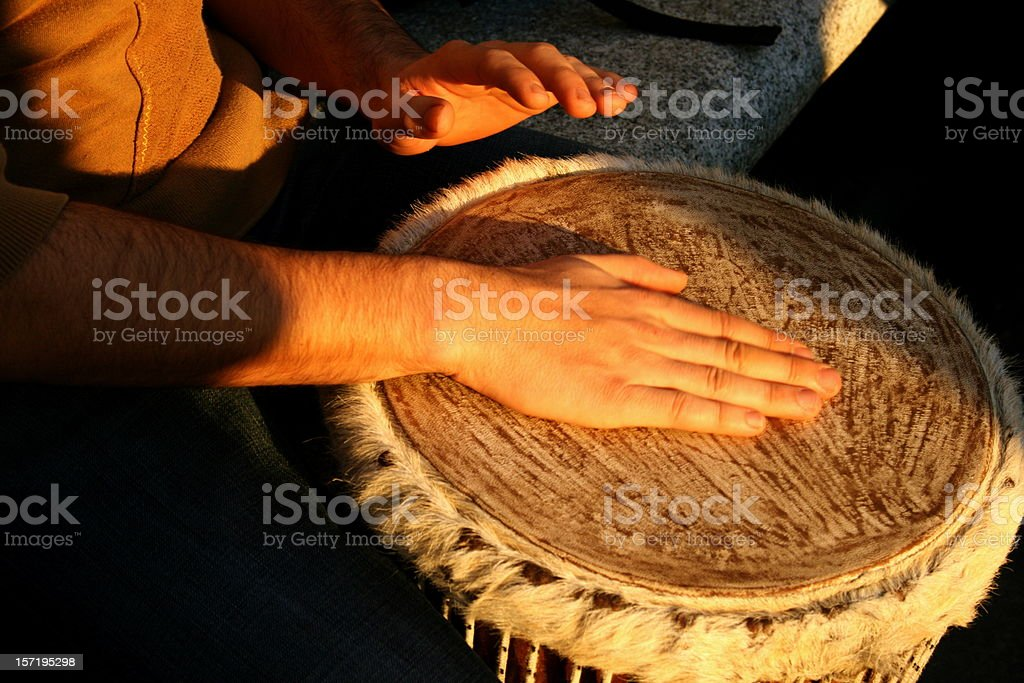 shaman drum stock photo