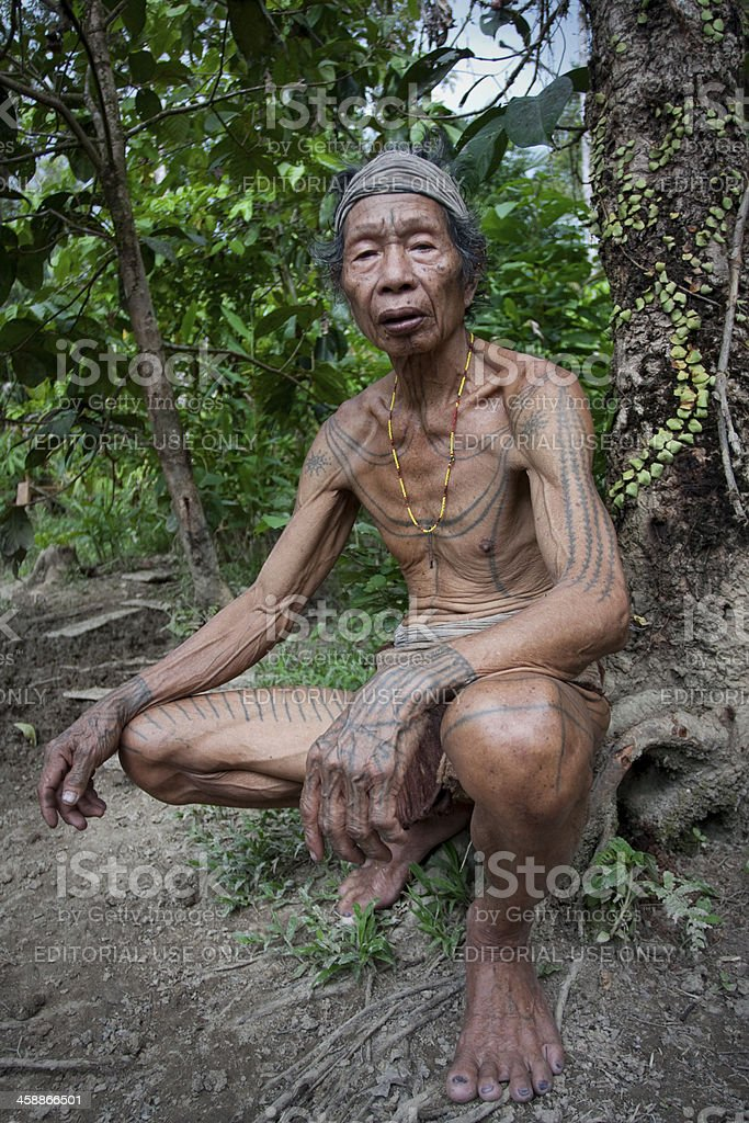 Shaman of Mentaway Islands. stock photo