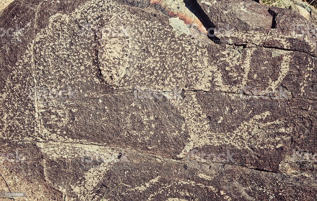 Shaman Pictograph - Three Rivers Petroglyph Site royalty-free stock photo