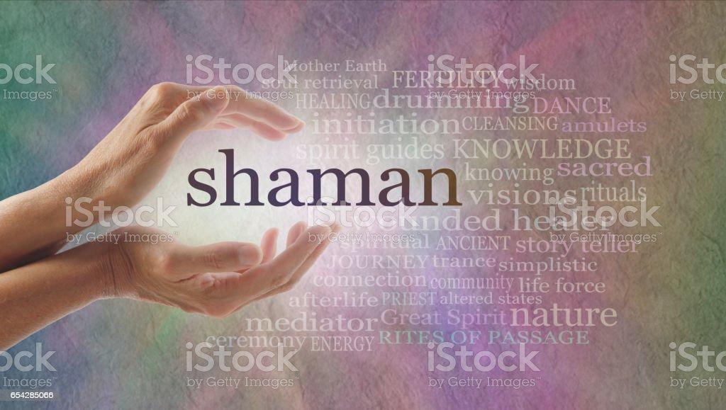 Shaman Word Cloud stock photo