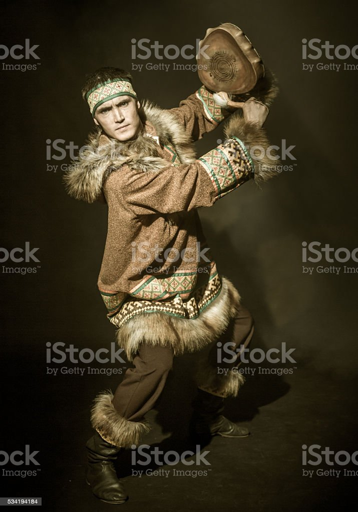 Shamanic Dance stock photo