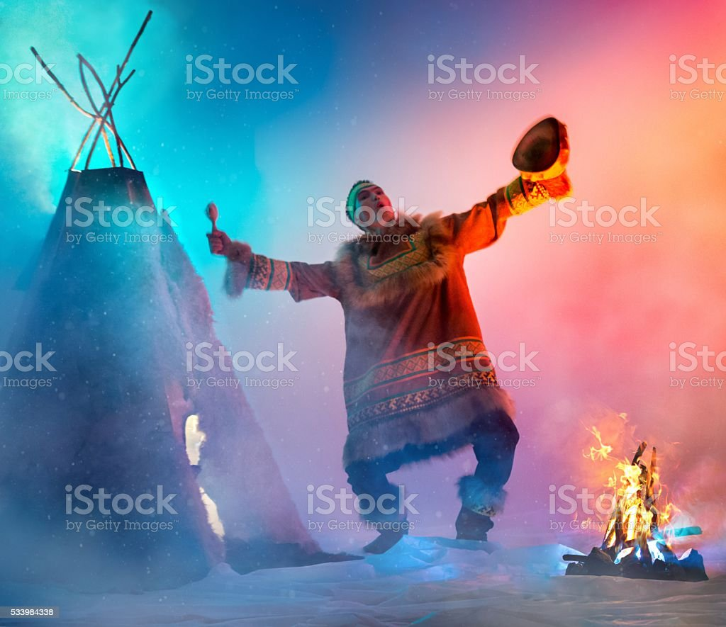 Shamanic Dancing stock photo