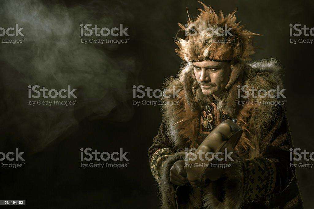 Shamanic Ritual stock photo