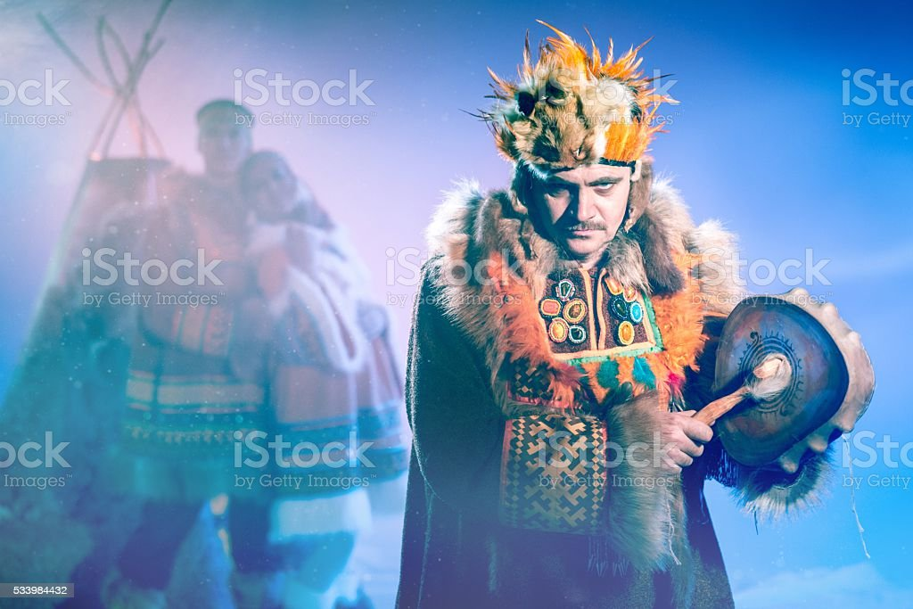 Shamaninc Ritual stock photo
