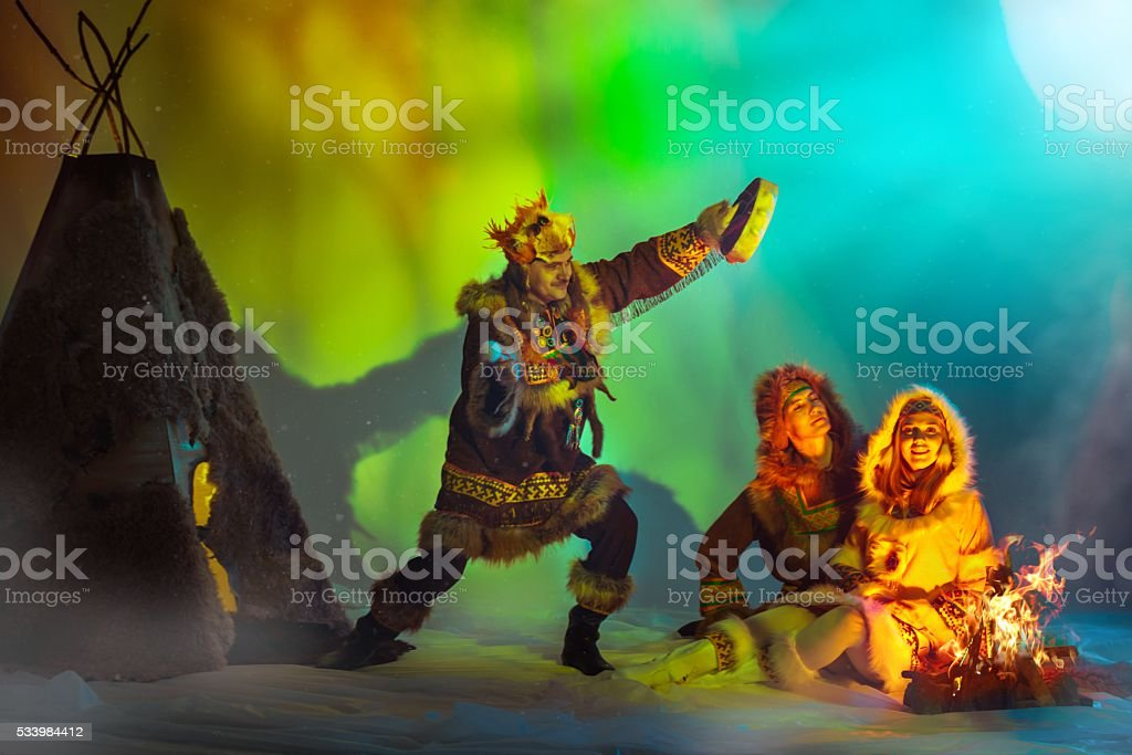 Shamanistic Rite stock photo