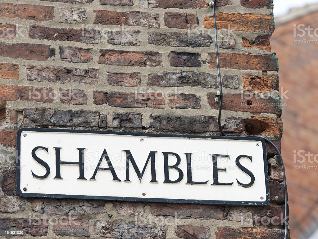 Shambles Street Sign royalty-free stock photo