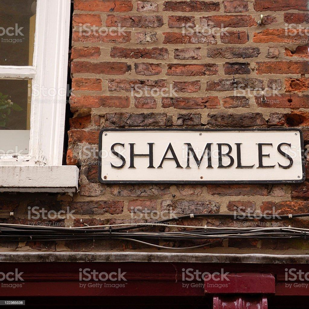 Shambles, York, UK royalty-free stock photo