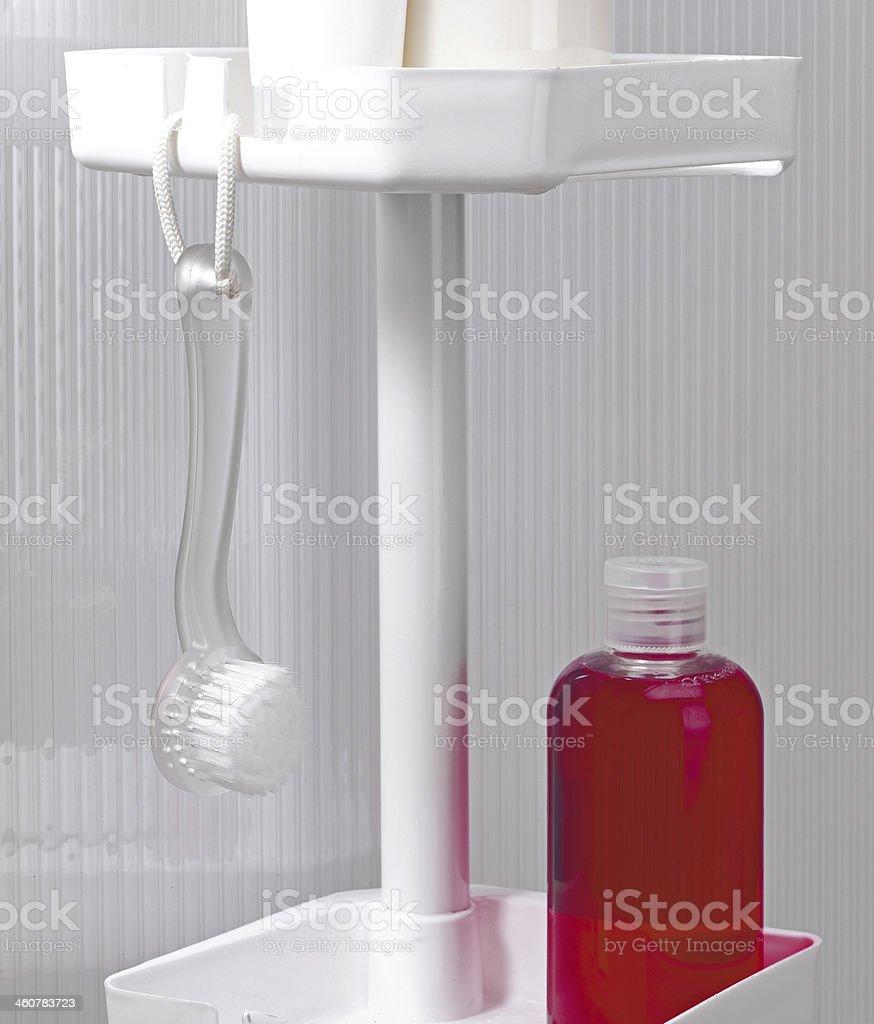 Shampoo and Nail Brush royalty-free stock photo