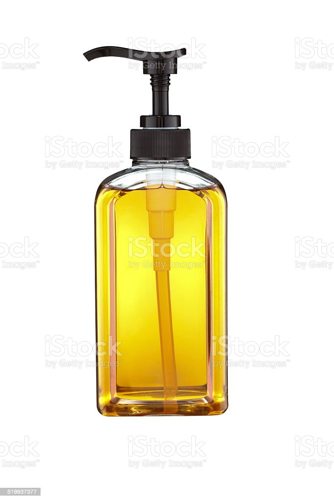 Shampoo bottle stock photo