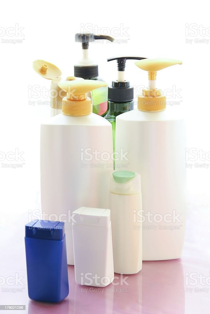 Shampoo Bottles royalty-free stock photo