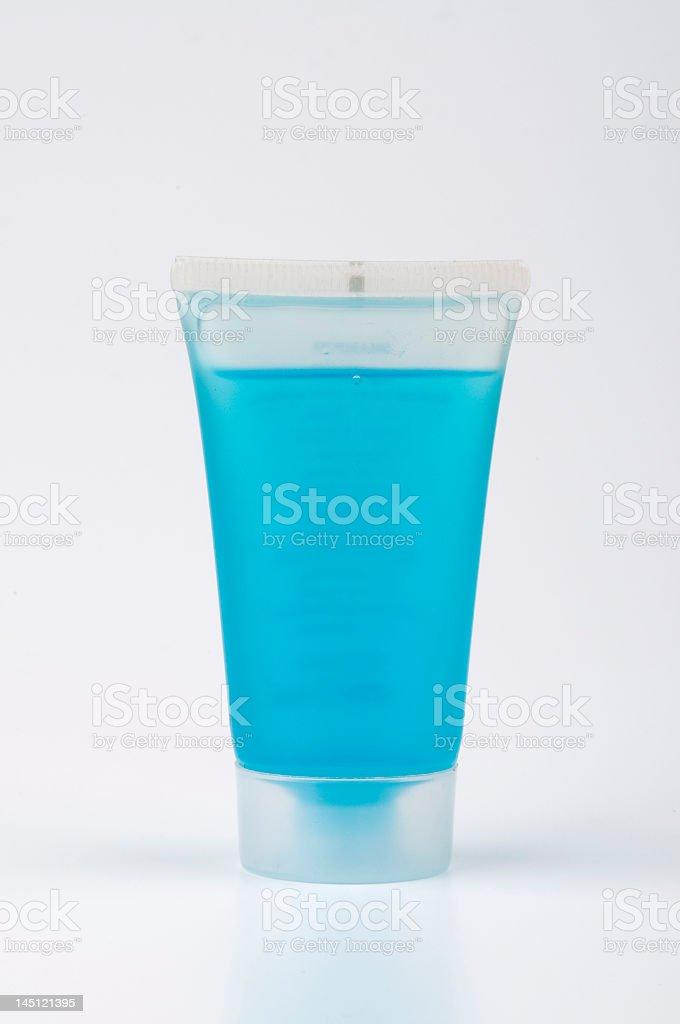 Shampoo in Plastic Bottle royalty-free stock photo