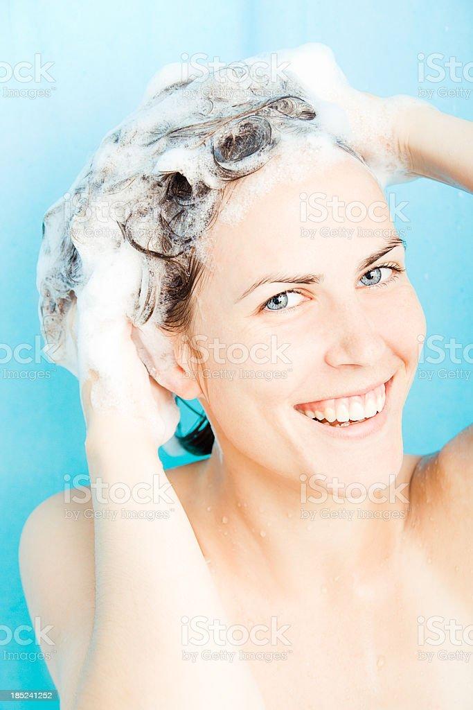 Shampoo time stock photo