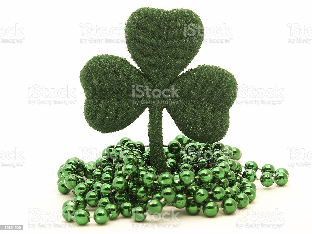 shamrock and beads royalty-free stock photo