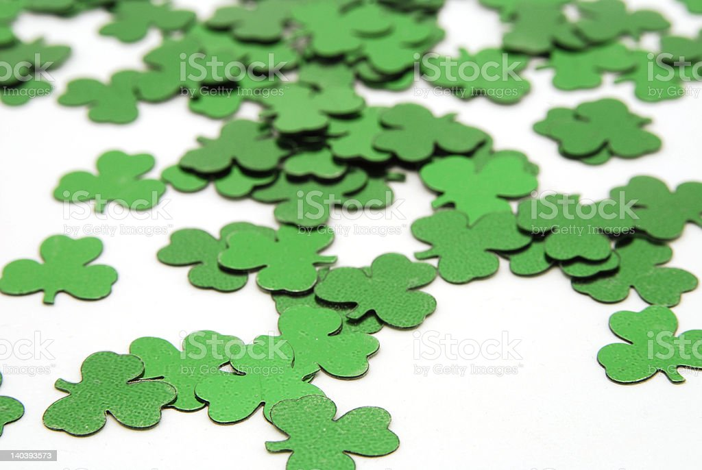 Shamrock Confetti royalty-free stock photo