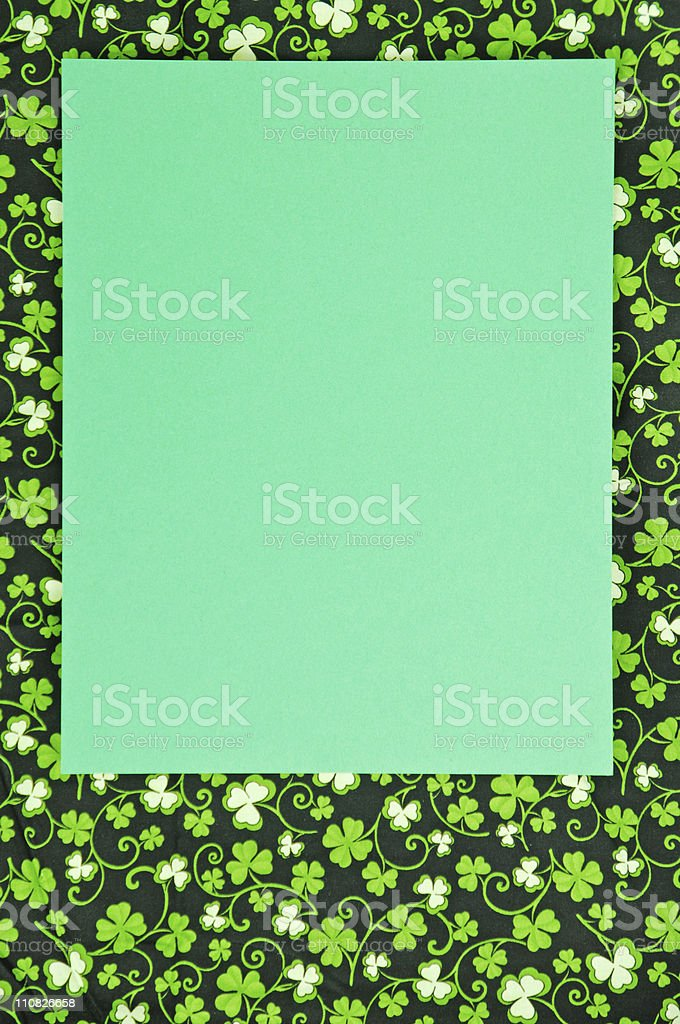 Shamrock St. Patrick's Day Background And Copy stock photo