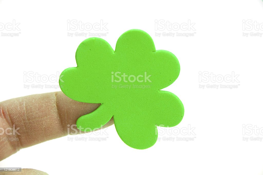 Shamrock with Copy Space stock photo