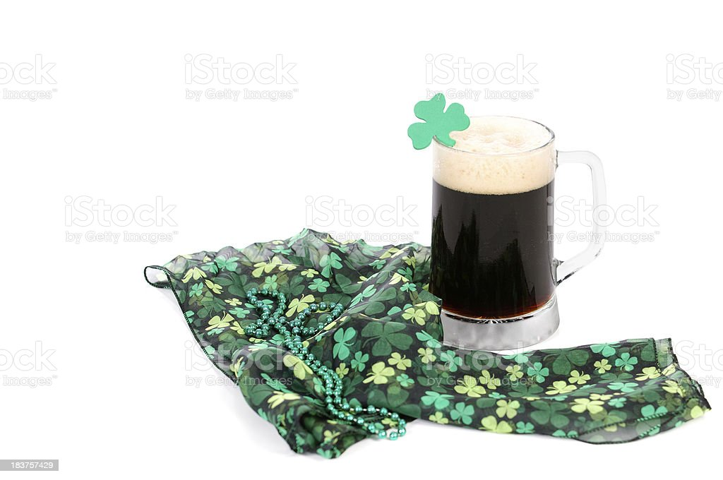 Shamrocks And Beer stock photo