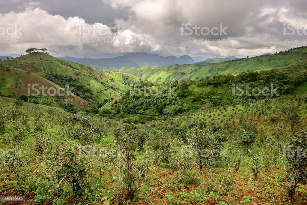 Shan country stock photo