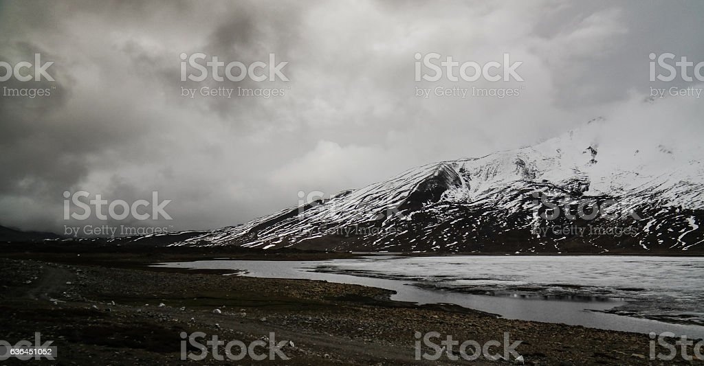 Shandur lake and pass, Gilgit-Baltistan Province Pakistan stock photo