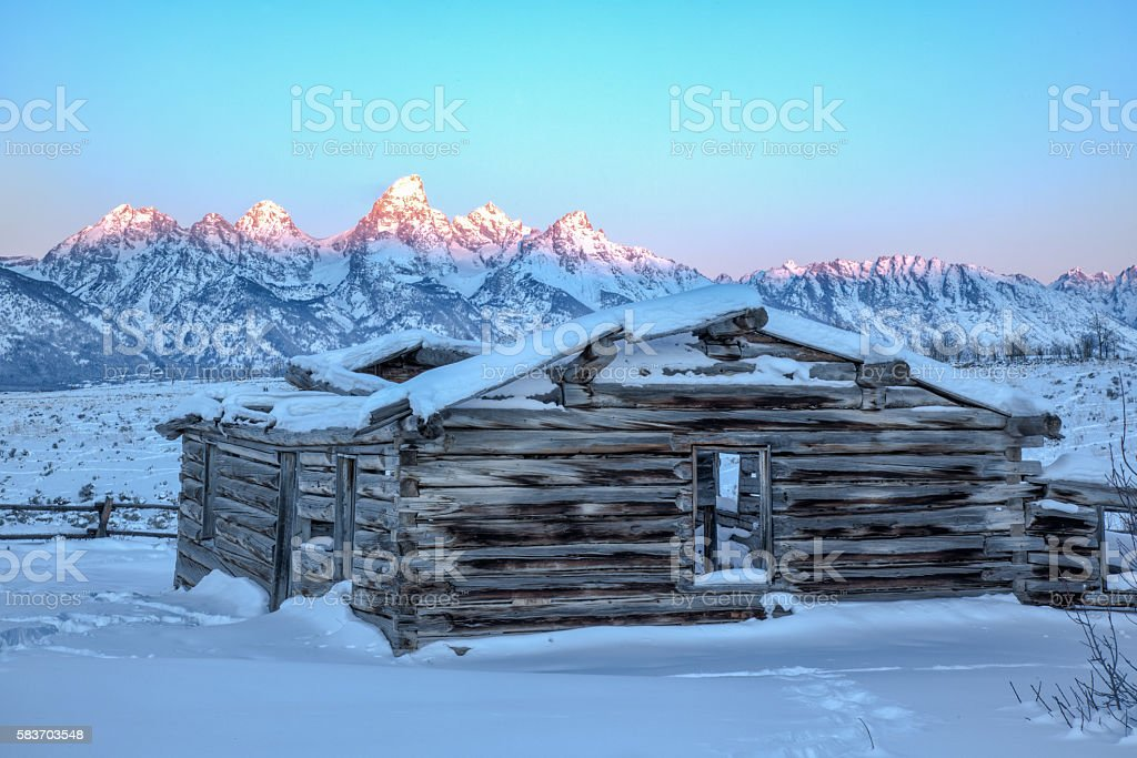 Shane Cabins at Grand Teton National Park stock photo