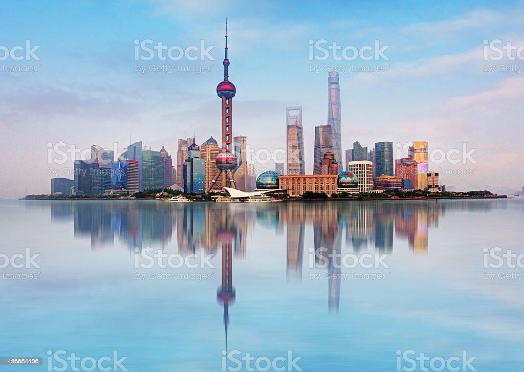 Shangahi skyline, China. stock photo