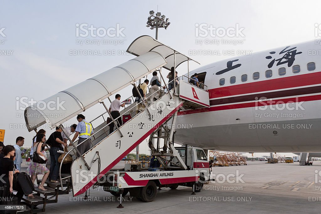 Shanghai Airlines Boeing 767-300 stock photo