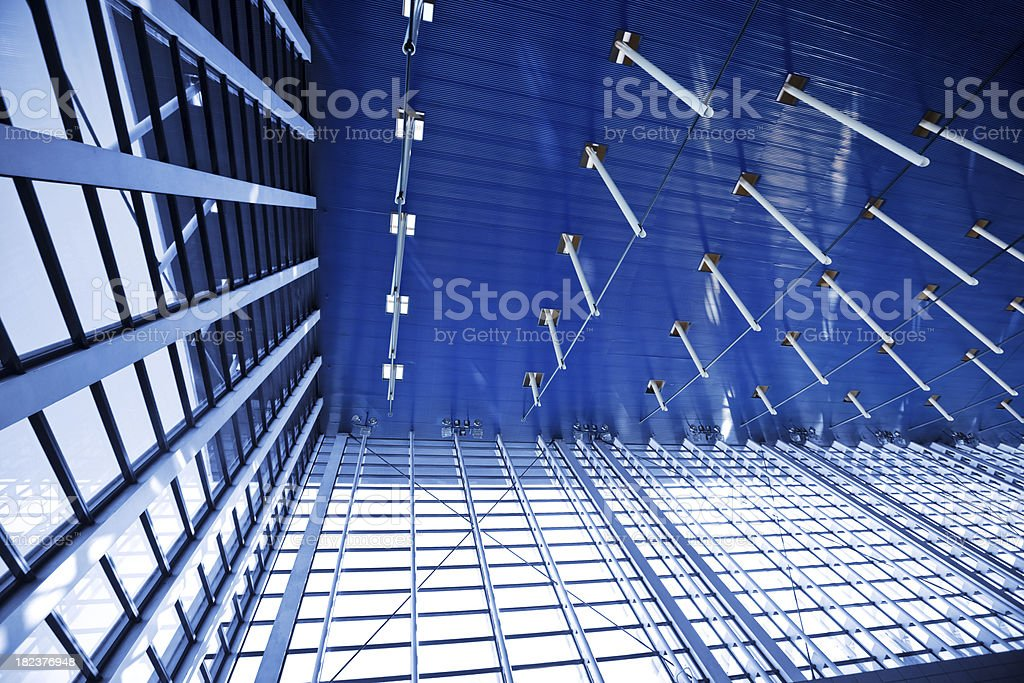 Shanghai Airport Ceiling royalty-free stock photo
