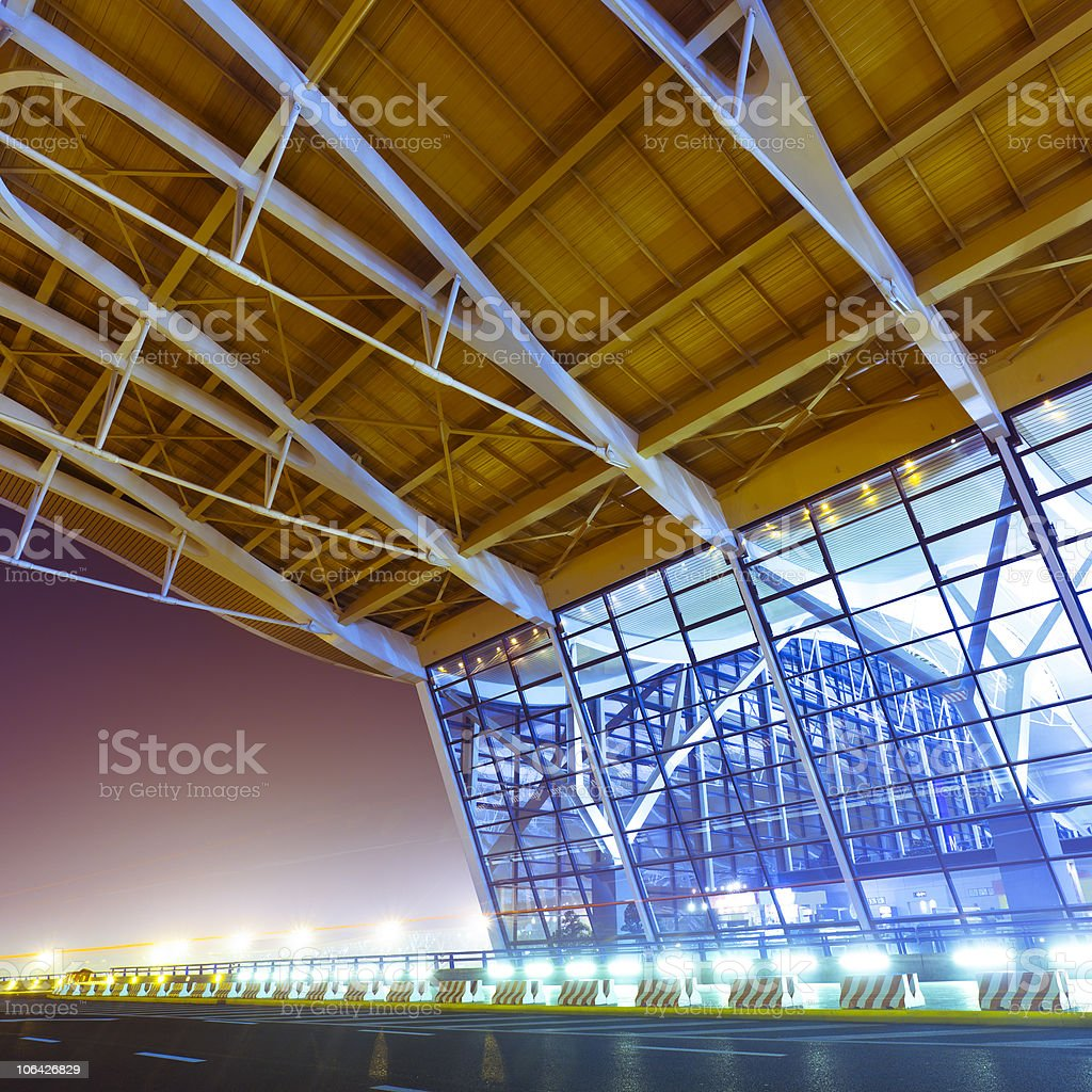 shanghai airport royalty-free stock photo